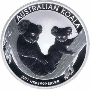 AUSTRALIA-ONZA-DE-PLATA-KOALA-2011-50-CENTS-DOLLAR-DOLAR-SILVER-1-2-OUNCE-OZ