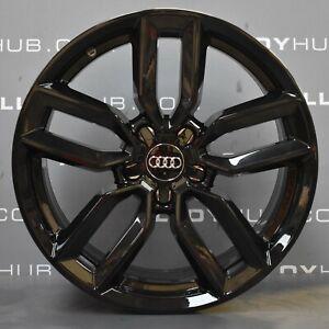 Genuine-AUDI-S3-8-V-5-Twin-Spoke-noir-brillant-18-034-pouces-roues-en-alliage-SET-X4-S-Line
