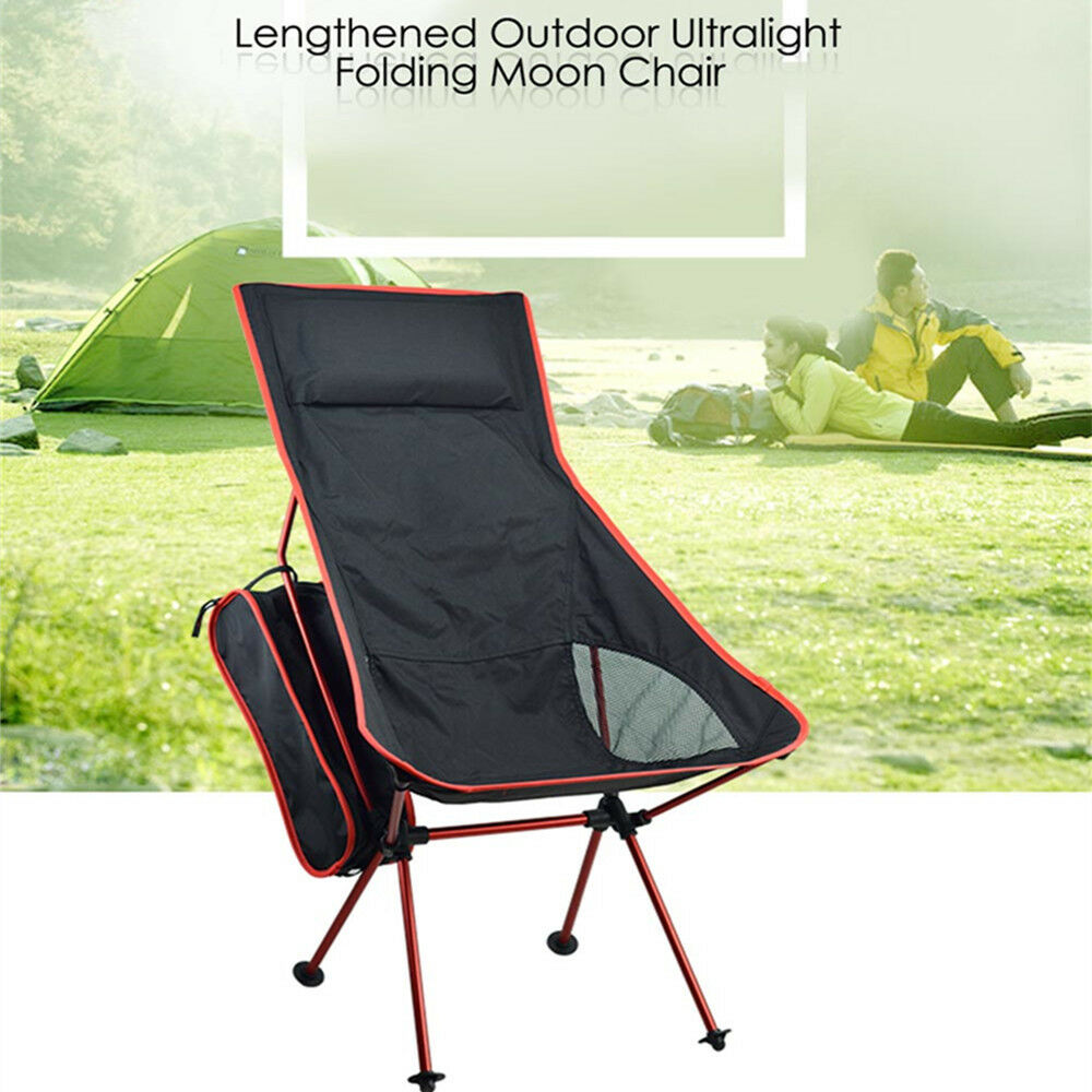 Lengthened Outdoor Ultralight Foldable Moon Chair For Fishing Sunbath Camping