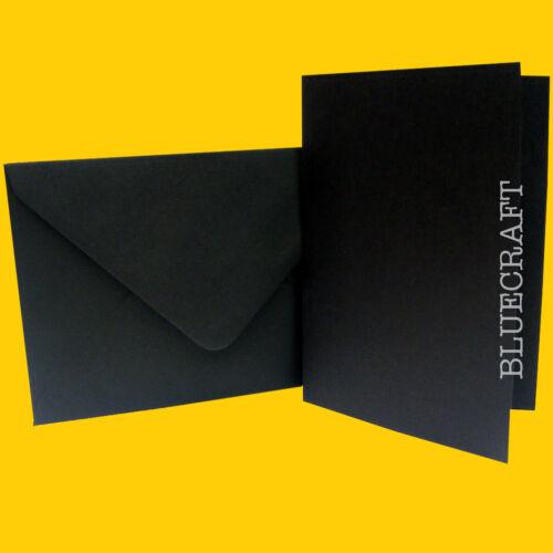 10 x A5 cool noir mariage carte blancs & Enveloppes C5