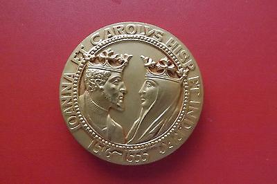 *spanische Bronzemedaille Ca.77,2g.-ca.52mm* Joanna Und Carolus (schub 22) Diversifizierte Neueste Designs
