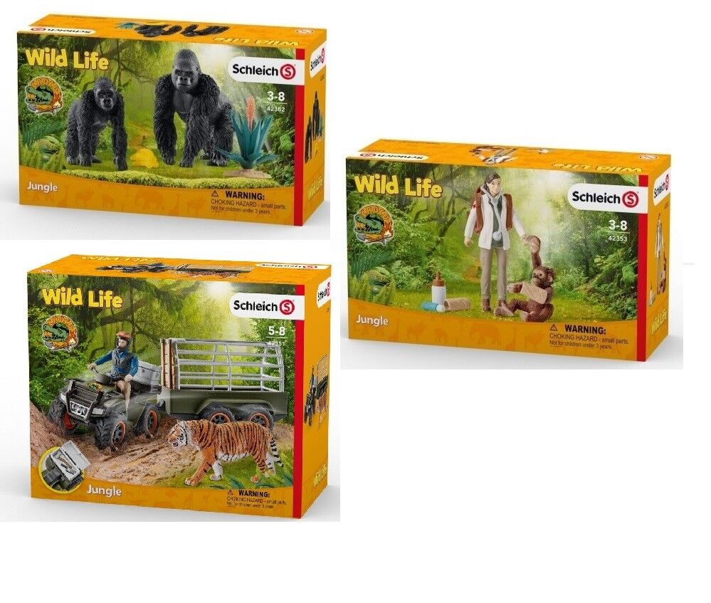 SCHLEICH COLLECTION WILD LIFE 42353 + 42351 + 42382 - NEW   FACTORY SEALED