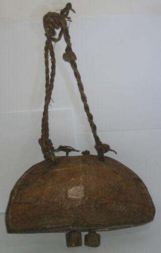 Kuhglocke Holzglocke Tierglocke mit Holzklöppel 27x12x8cm