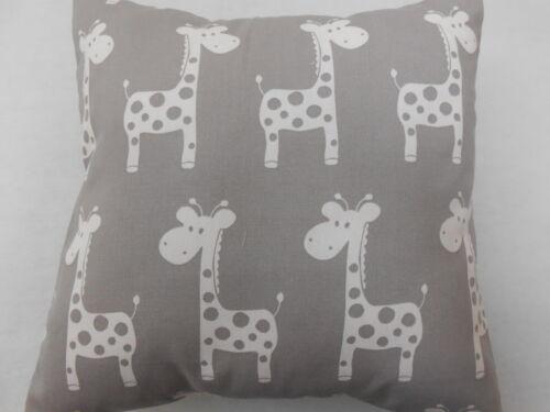 Cute Giraffes on Grey Cushion Cover - Nursery Cushion - 40x40cm Perfect Gift!