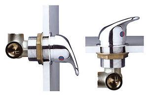 Bulkhead lever hot cold shower mixer valve - KAPPA family  MDI6000N