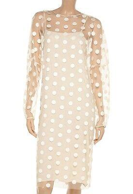 Stella McCartney Runway Ivory Polka Dot Embroidered Tulle Dress