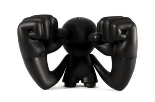 THUMP DO-IT-YOURSELF BLANK BLACK VINYL FIGURE STRONGBOY