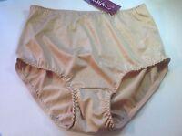 Women Panties,briefs Ilusion Size L. Large Beige Shiny Floral W/decoration