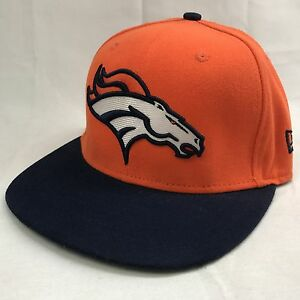 31b54f50f69 Denver Broncos NFL Fitted Baseball Cap New Era 59Fifty Size 7 Orange ...
