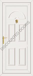 Cheap White Upvc Front Door Budget Carter Non Glazed