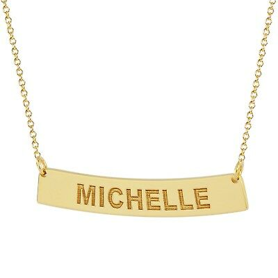 Dainty Script Name Necklace Solid Gold 1 Inch Personalized Pendant Laser Cut Fine Jewelry GC52
