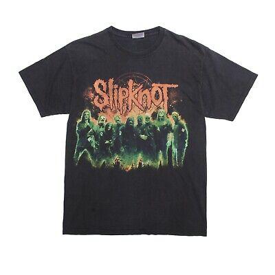 Pratico Slipknot T-shirt Nera Stampa Fronte-retro Vintage 2000s Taglia M-mostra Il Titolo Originale