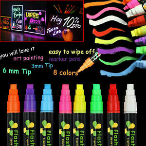 Candy-Color-Highlighter-Fluorescent-Liquid-Chalk-Marker-Pen-For-Painting-Supply