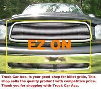 For Toyota Tundra 1999-2002 2pc Polish Grille W/o Logo Top Replace+bumper Bolt