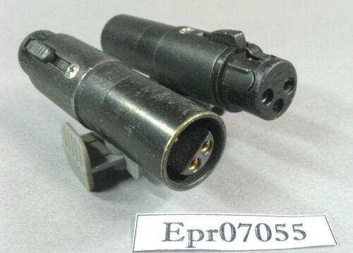 Adapter Lemo:XLR FFA3 3Po female zu 3 Pol XLR female schwarz #Epr07055