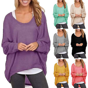 Women-039-s-Casual-Oversized-Slouchy-Sweater-Pullover-Sweatshirt-Baggy-Tops-Blouse