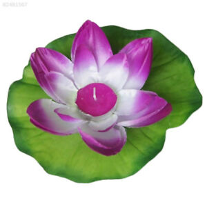 7af5 Silk Lotus Flower Wishing Lamp Floating Lamp Candle Light