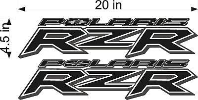 "20/"" RED Vinyl Vehicle ATV Graphic Sticker Decals PAIR Polaris Logo RZR"