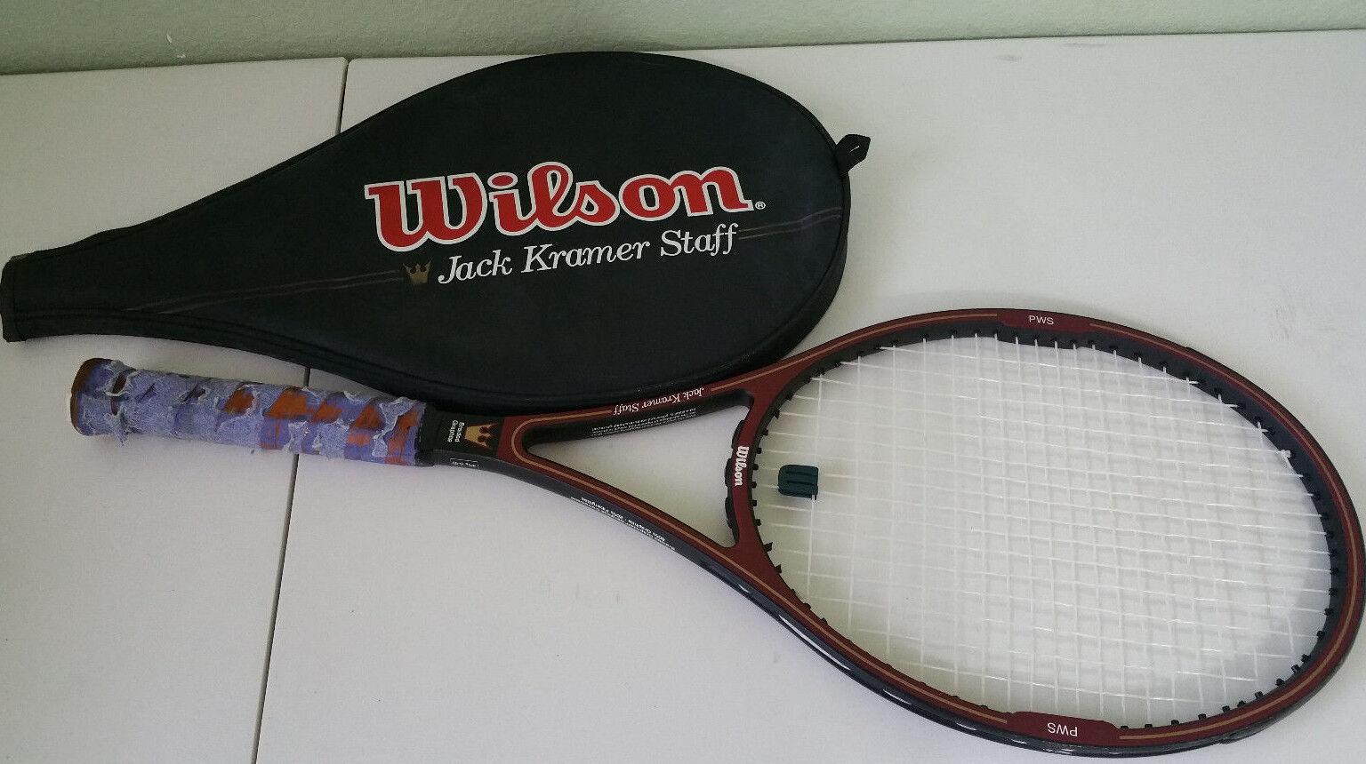 Wilson Jack Kramer Staff MidGröße Tennis Racquet with Case - 4 3 8 Grip