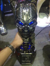 1:1 Terminator T800 Skull Endoskeleton Lift-Size Bust Figure Replica LED BlueEYE