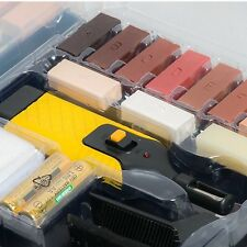 19Pc Laminate Floor Furniture Worktop Repair Kit Wax Sturdy Case Chips Scratches
