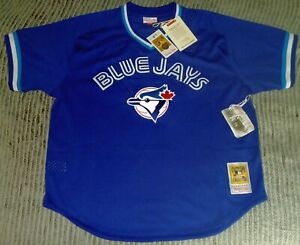 buy online 38eef 38785 Details about AUTHENTIC Mitchell Ness JOE CARTER Blue Jays Throwback 1993  BP Jersey XL/48 vtg