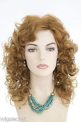 Strawberry Blonde Red Medium Wavy Curly Wigs
