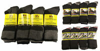 6 Pairs Men's Ultimate Work Boot Socks, Cushion Sole, Reinforced Toe, Size 6-11
