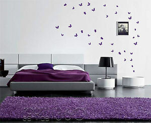 42 Butterfly Stickers Up To 42 Wall Art Decals Vinyl Room Wall