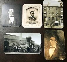 President Abraham Lincoln Civil War Lot Of 5 Special tintype C712RP