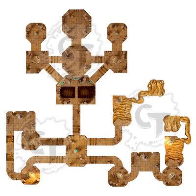 Digital Download D/&D RPG Dragons Dnd Pathfinder Dwarven Dungeon Mines Tiles Set