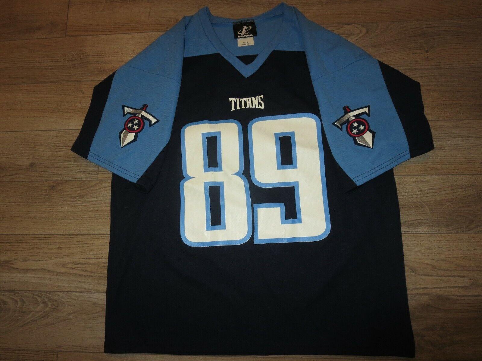 Frank Wycheck Tennessee Titans NFL Logo Athletic Camiseta Lg LARGA Hombres