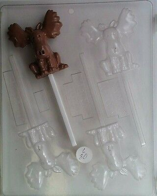 CUTE GIRAFFE LOLLIPOP CLEAR PLASTIC CHOCOLATE CANDY MOLD AO267