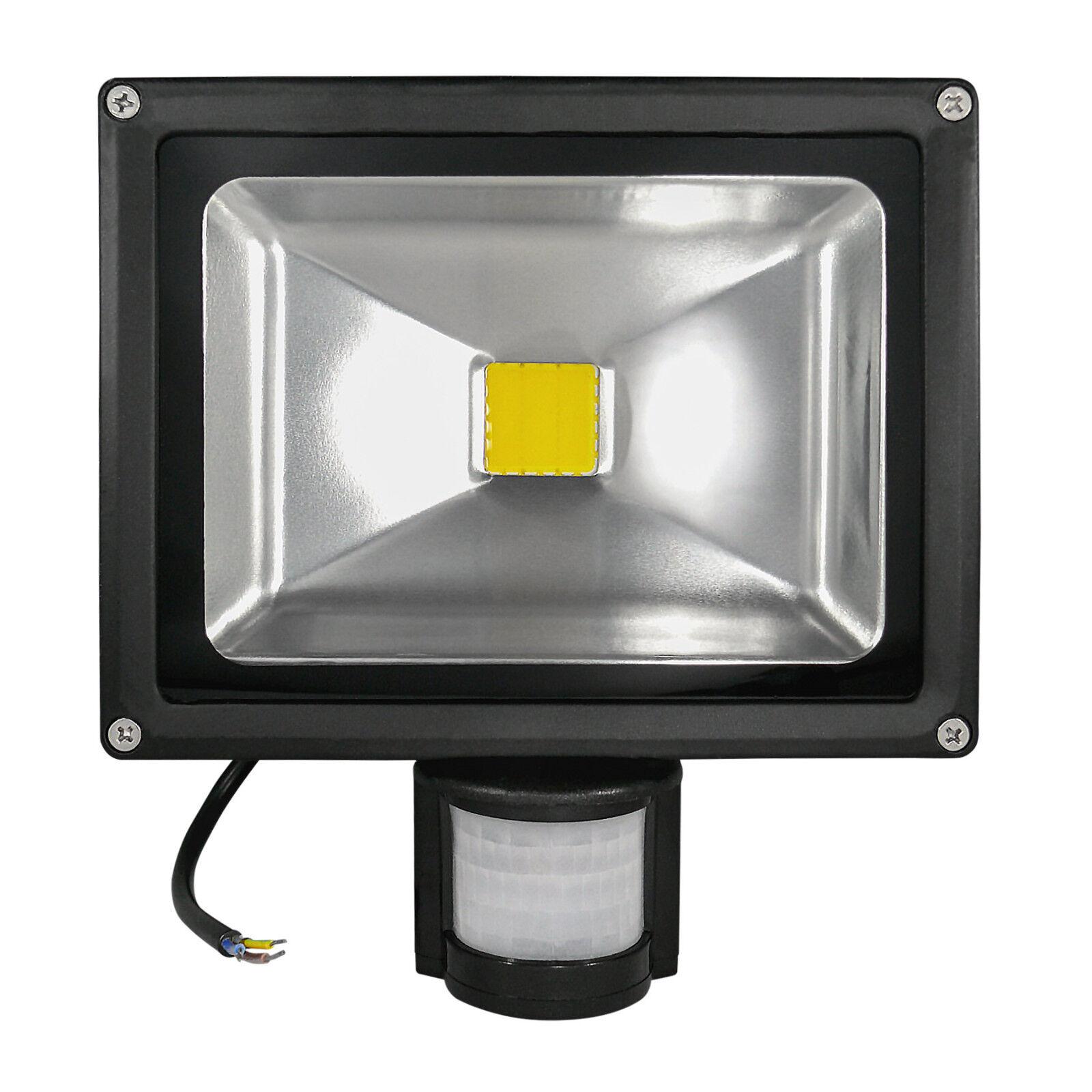 8x COB LED Strahler LED Fluter LED Flutlicht 20 Watt BM 3.000K Schwarzes Gehäuse