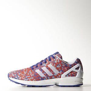 Nuovi uomini è adidas originali zx flusso tessere scarpe [b34473 notte flash.