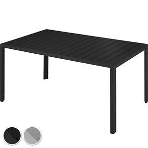 Details zu Alu Gartentisch Terrassentisch Balkontisch Esstisch Gartenmöbel Tisch Optik