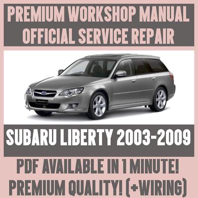 WIRING *WORKSHOP MANUAL SERVICE /& REPAIR GUIDE for SUBARU LIBERTY 2003-2009