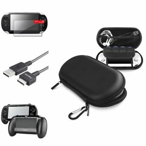 Black-Hand-Grip-Screen-Protector-Black-EVA-Case-USB-Cable-For-Sony-PS-Vita-PSV