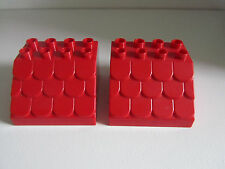 Lego Duplo Brick Red Scalloped Roof Parts   Lot Set     CHOICE of Color  NEW