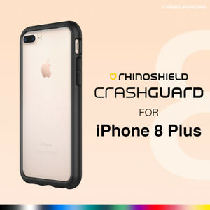 newest 34ff9 e7759 Details about RhinoShield iPhone 8 Plus CrashGuard Bumper Case - Rhino  Shield Shock Proof 8+
