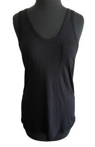 T Alexander Wang Women's Tank Top Black Racerback Sleeveless Shirt Size XS