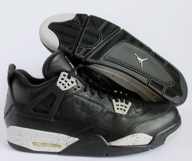 online retailer 0ce77 36717 NIKE AIR JORDAN 4 RETRO LS BLACK-TECH GREY-BLACK SZ 13 OREO!