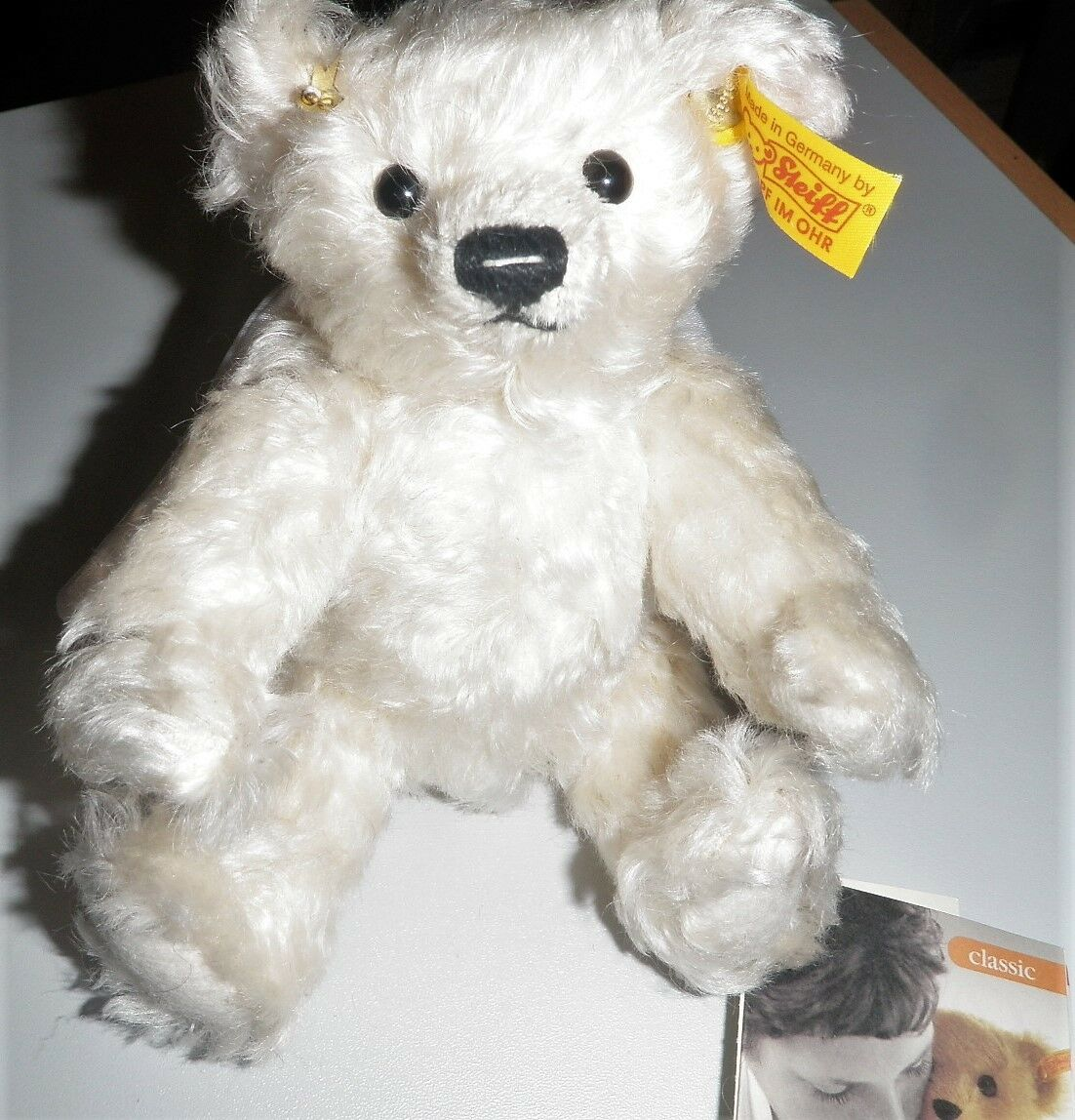 Steiff Teddybär Schutzengel 028496 weiß 18 cm - Der hilft Besteimmt  - Geschenk -
