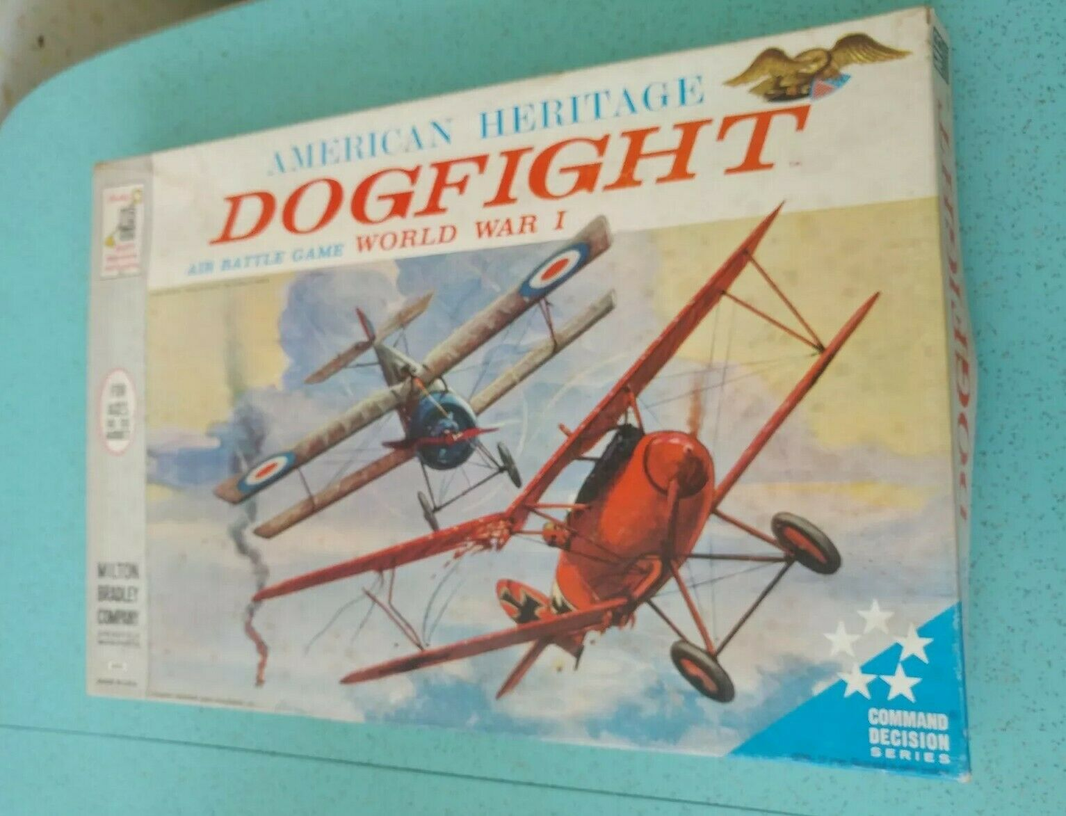 Vintage 1963 American Heritage Dogfight WWI Military Board Game