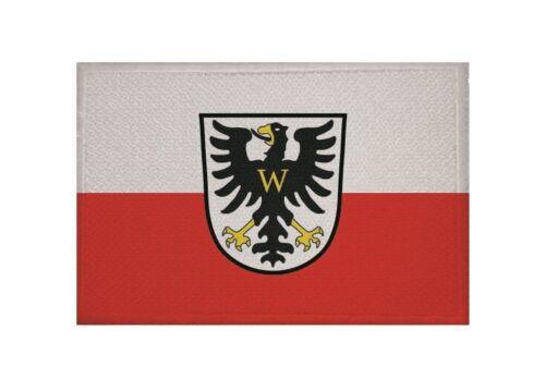 Ricamate bagno vento domestica bandiera bandiera aufbügler Patch 9 x 6 cm