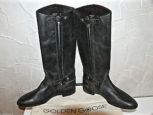 Leather-Boots-Distressed-Black-golden-goose-Japan-Size-41-UK-7-5-Neuvese-Value