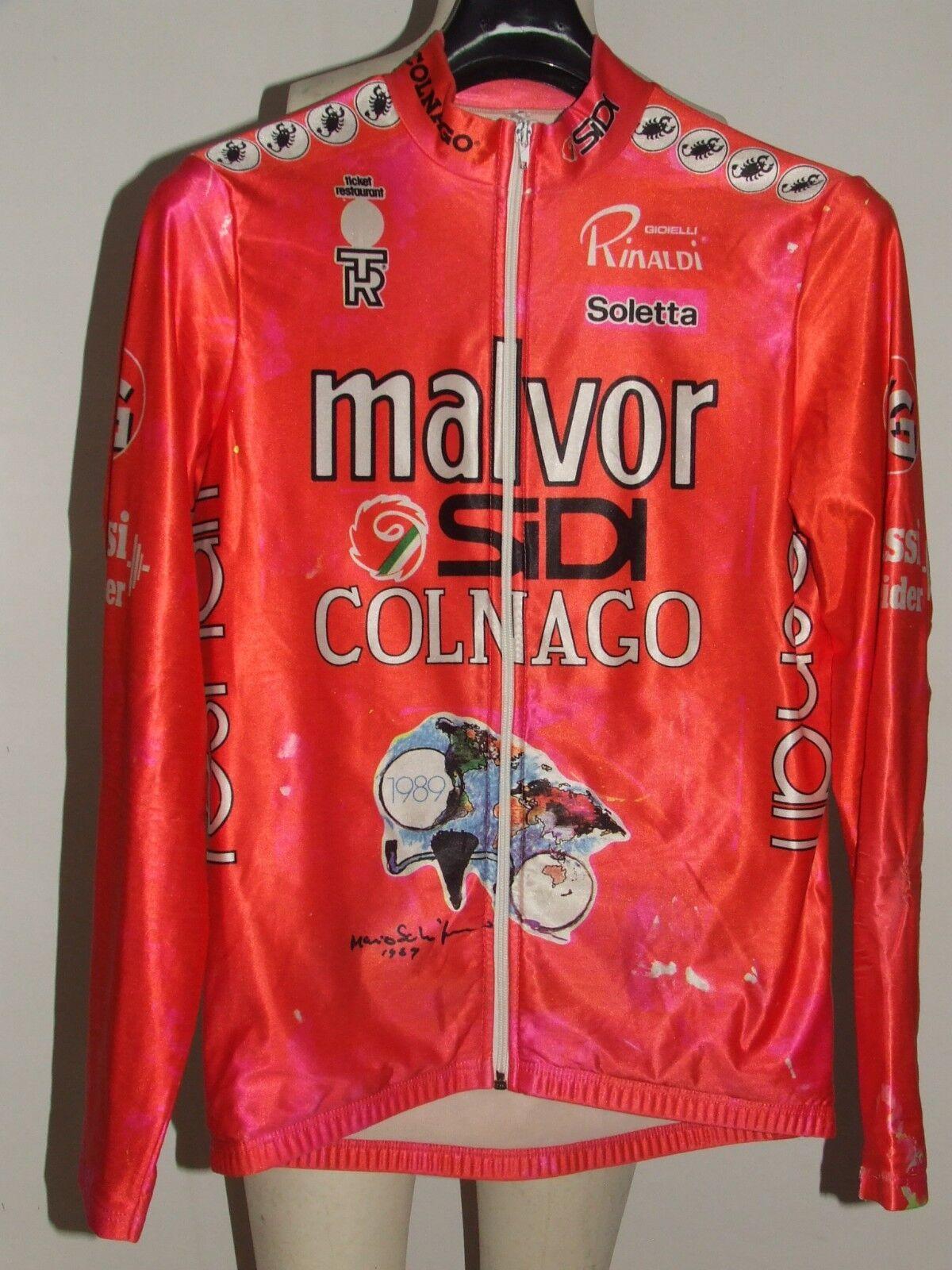 Trikot Fahrrad Jacke Radsport MALVOR COLNAGO S FANO CASTELLI tg. M
