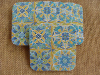 Set Of 6 Cork Backed Legacy Coasters - Mexican Tiles Pattern