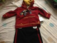 Starting Out 2-piece Submarine Set Baby Boys Clothes 6 Months 2pc Cherry-74c