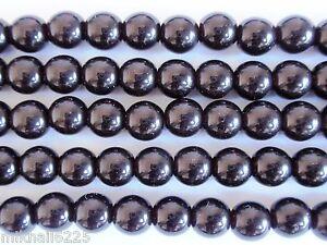 50 Garnet Czech Glass Round Loose Beads 6MM